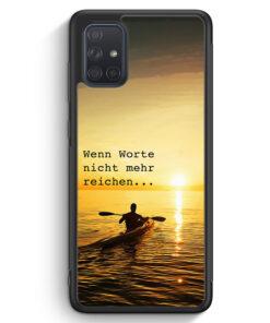 Samsung Galaxy A71 Silikon Hülle - Wenn Worte Nicht mehr Reichen Kayak Kanu