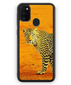 Samsung Galaxy M30s Silikon Hülle - Leopard