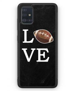 Samsung Galaxy A51 Silikon Hülle - Love American Football