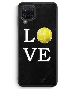 Samsung Galaxy A12 Silikon Hülle - Love Tennis
