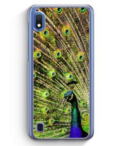 Samsung Galaxy A10 Hülle - Pfau Peacock