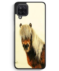 Samsung Galaxy A12 Silikon Hülle - Schönes Pferd