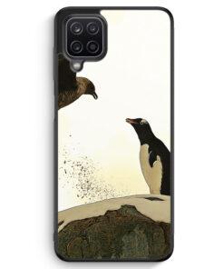 Samsung Galaxy A12 Silikon Hülle - Pinguin & Vogel