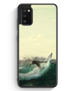 Samsung Galaxy A41 Silikon Hülle - Surfer Foto