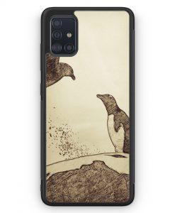 Samsung Galaxy A51 Silikon Hülle - Vintage Pinguin & Vogel