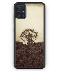Samsung Galaxy A51 Silikon Hülle - Vintage Pusteblume