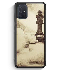 Samsung Galaxy A71 Silikon Hülle - Vintage Schach