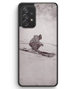 Vintage Ski - Silikon Hülle für Samsung Galaxy A52