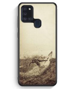 Samsung Galaxy A21s Silikon Hülle - Vintage Surfer Foto