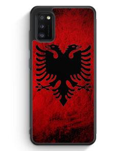 Samsung Galaxy A41 Silikon Hülle - Albanien Splash Flagge