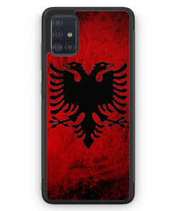 Samsung Galaxy A51 Silikon Hülle - Albanien Splash Flagge