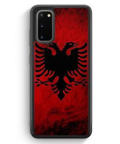 Samsung Galaxy S20 Silikon Hülle - Albanien Splash Flagge