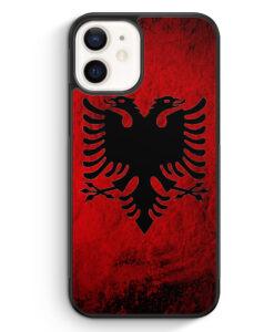 iPhone 12 Silikon Hülle - Albanien Splash Flagge