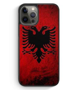 iPhone 12 Pro Silikon Hülle - Albanien Splash Flagge