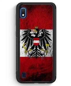 Samsung Galaxy A10 Silikon Hülle - Österreich Splash Austria Flagge