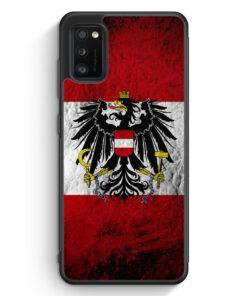 Samsung Galaxy A41 Silikon Hülle - Österreich Splash Austria Flagge
