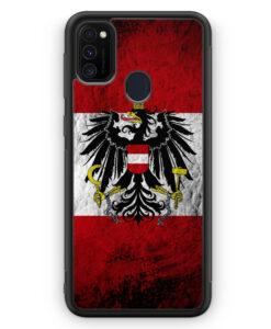 Samsung Galaxy M21 Silikon Hülle - Österreich Splash Austria Flagge