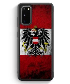 Samsung Galaxy S20 FE Silikon Hülle - Österreich Splash Austria Flagge