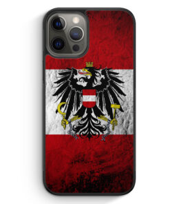 iPhone 12 Pro Max Silikon Hülle - Österreich Splash Austria Flagge