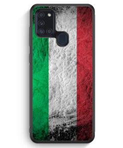 Samsung Galaxy A21s Silikon Hülle - Italien Splash Flagge Italia Italy