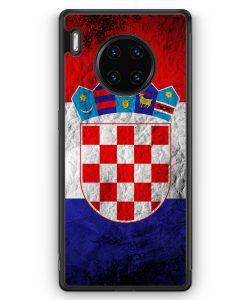 Huawei Mate 30 Pro Silikon Hülle - Kroatien Splash Flagge Hrvatska Croatia