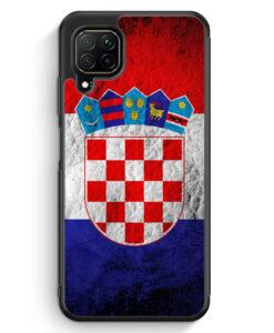 Huawei P40 lite Silikon Hülle - Kroatien Splash Flagge Hrvatska Croatia