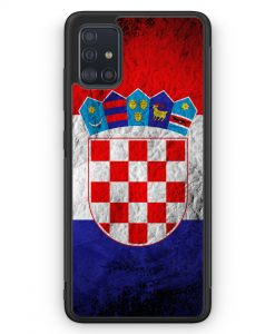 Samsung Galaxy A51 Silikon Hülle - Kroatien Splash Flagge Hrvatska Croatia