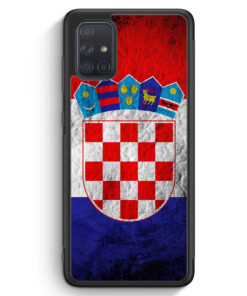 Samsung Galaxy A71 Silikon Hülle - Kroatien Splash Flagge Hrvatska Croatia