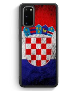 Samsung Galaxy S20 FE Silikon Hülle - Kroatien Splash Flagge Hrvatska Croatia