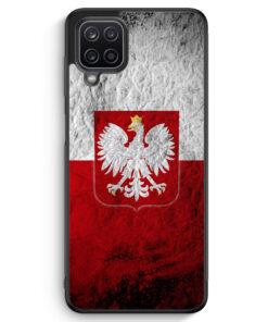 Samsung Galaxy A12 Silikon Hülle - Polen Splash Flagge Polska Poland