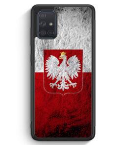 Samsung Galaxy A71 Silikon Hülle - Polen Splash Flagge Polska Poland