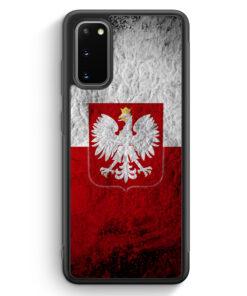 Samsung Galaxy S20 FE Silikon Hülle - Polen Splash Flagge Polska Poland