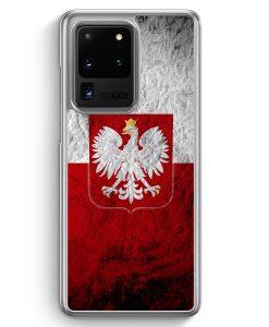 Samsung Galaxy S20 Ultra Hülle - Polen Splash Flagge Polska Poland