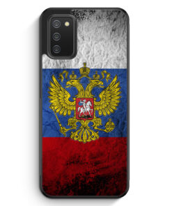 Russland Splash Flagge Russia - Silikon Hülle für Samsung Galaxy A02s