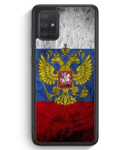 Samsung Galaxy A71 Silikon Hülle - Russland Splash Flagge Russia