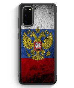 Samsung Galaxy S20 Silikon Hülle - Russland Splash Flagge Russia