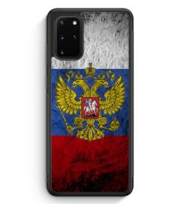 Samsung Galaxy S20+ Plus Silikon Hülle - Russland Splash Flagge Russia