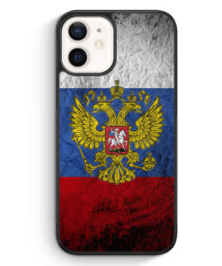 iPhone 12 Silikon Hülle - Russland Splash Flagge Russia
