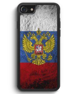 iPhone SE 2020 Silikon Hülle - Russland Splash Flagge Russia