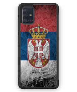 Samsung Galaxy A51 Silikon Hülle - Serbien Splash Flagge Serbia Srbija