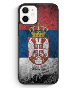 iPhone 12 Silikon Hülle - Serbien Splash Flagge Serbia Srbija