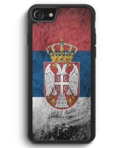 iPhone SE 2020 Silikon Hülle - Serbien Splash Flagge Serbia Srbija