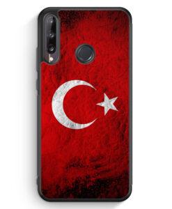 Huawei P40 lite E Silikon Hülle - Türkei Splash Flagge Türkiye Turkey