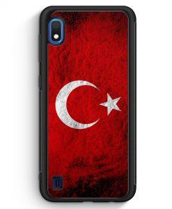 Samsung Galaxy A10 Silikon Hülle - Türkei Splash Flagge Türkiye Turkey