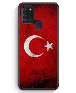 Samsung Galaxy A21s Silikon Hülle - Türkei Splash Flagge Türkiye Turkey