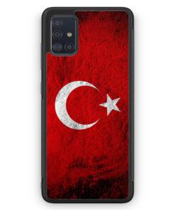 Samsung Galaxy A51 Silikon Hülle - Türkei Splash Flagge Türkiye Turkey