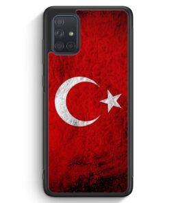 Samsung Galaxy A71 Silikon Hülle - Türkei Splash Flagge Türkiye Turkey