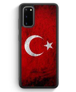 Samsung Galaxy S20 Silikon Hülle - Türkei Splash Flagge Türkiye Turkey