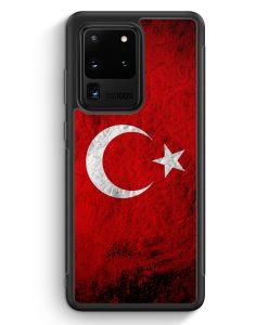 Samsung Galaxy S20 Ultra Silikon Hülle - Türkei Splash Flagge Türkiye Turkey