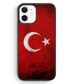 iPhone 12 mini Silikon Hülle - Türkei Splash Flagge Türkiye Turkey